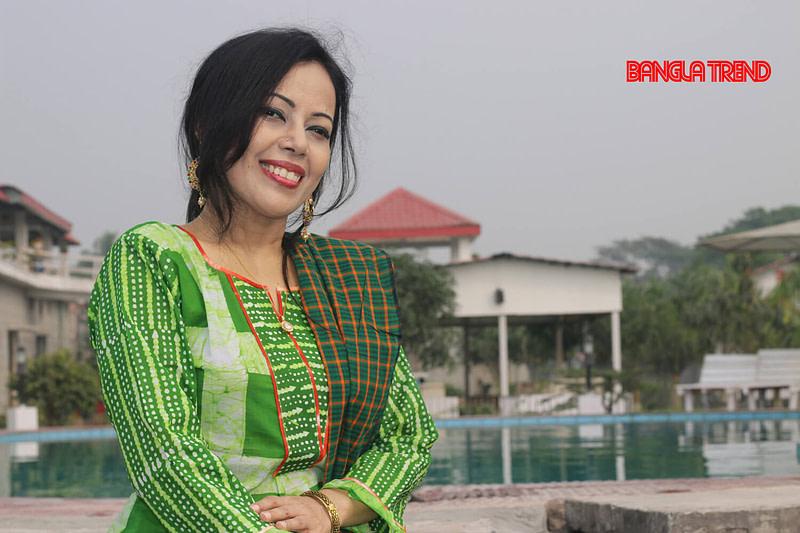 Green Wax Batik Kurti with Orna